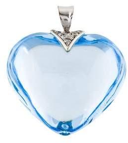 Baccarat Crystal & Diamond Heart Pendant