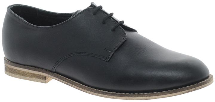 Asos MISCHIEF Leather Flat Shoes - Black