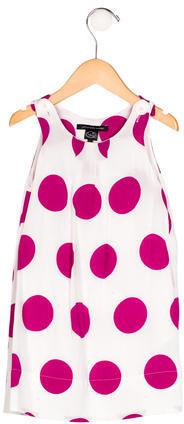 Little Marc JacobsLittle Marc Jacobs Girls' Polka Dot Sleeveless Dress