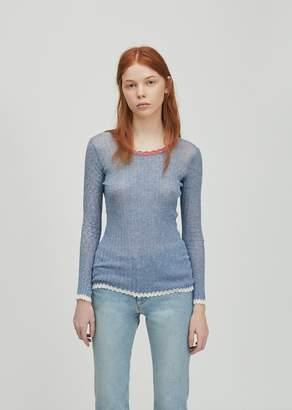 Etoile Isabel Marant Aggy Striped Sweater Blue