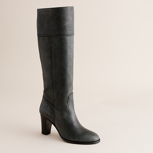 Nottingham tall leather high-heel boots