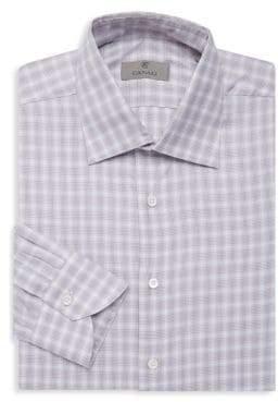 Canali Plaid Dress Shirt