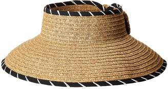 San Diego Hat Company UBV041 Roll Up Visor with Whip Stitched Edges and A Bow Closure Casual Visor