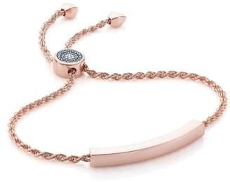 Monica Vinader Engravable Linear Evil Eye Diamond Bracelet