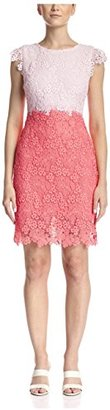Julia Jordan Women's Lace Colorblock Sheath $64 thestylecure.com