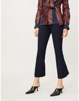 Joseph Slim-fit kick-flare cropped stretch-gabardine trousers