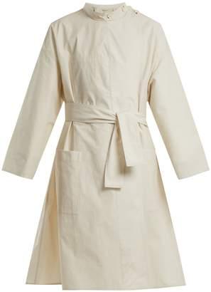 Lemaire High-neck tie-waist cotton coat