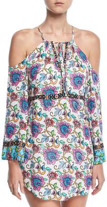 Nanette Lepore Rosarito Off-the-Shoulder Printed Coverup Dress