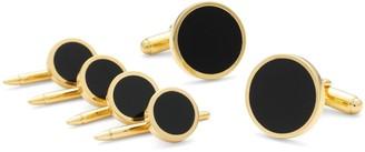 Brooks Brothers Onyx & Gold Stud Set