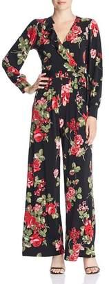 Leota Julie Rose-Print Ruffle Jumpsuit