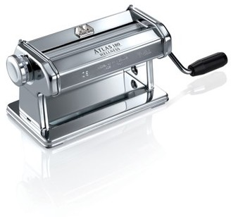 Marcato Atlas Made in Italy Pasta Roller, Silver, Includes 180-Millimeter Pasta Roller with Hand Crank and Instructions, 10-Year Warranty