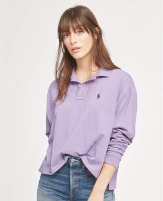 Polo Ralph Lauren Cropped Mesh Polo Shirt