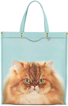 Anya Hindmarch Tall Kitsch Cat Leather Tote Bag