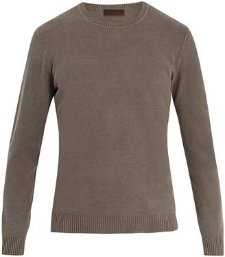 Altea Crew-neck linen and cotton-blend sweater