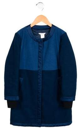 Little Marc Jacobs Girls' Wool Satin-Trimmed Coat