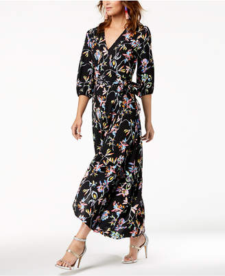Bar III Floral-Printed Wrap Maxi Dress, Created for Macy's