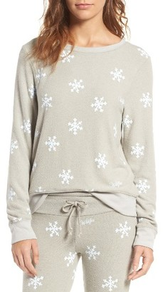 Women's Wildfox Baggy Beach Jumper - Winter Wonderland Pullover $98 thestylecure.com