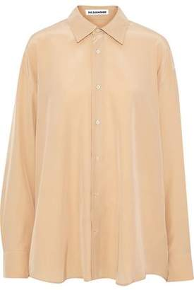 Jil Sander Oversized Washed-Silk Shirt