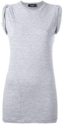 DSQUARED2 ruched cap sleeve top