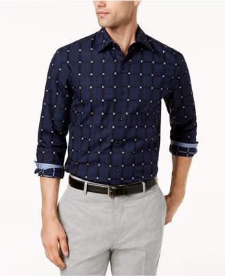 Tasso Elba Men's Grid Print Shirt, Created for Macy's