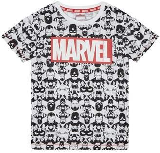Character Marvel - Boys' White 'Marvel' Print T-Shirt