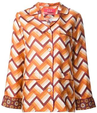 F.R.S For Restless Sleepers chevron pajama-style shirt