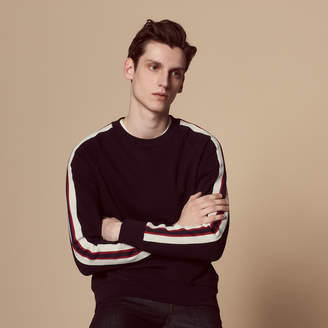Sandro SWEATSHIRT WITH THREE-COLOURED TRIM