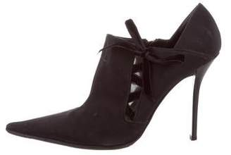 Casadei Pointed-Toe Ankle Boots