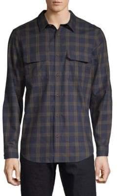 Calvin Klein Plaid Button-Down Shirt