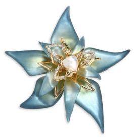 Alexis BittarAlexis Bittar Crystal & Lucite Petal Brooch