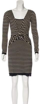 Temperley London Striped Knot Dress