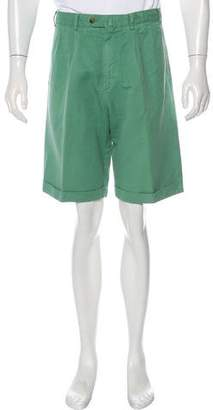 Loro Piana Linen-Blend Pleated Shorts