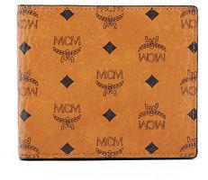 MCM Claus Small Monogram Canvas Wallet $225 thestylecure.com