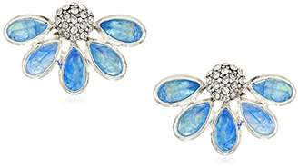 Kenneth Cole New York Power Of The Flower Crystal Stone and Stud Earrings