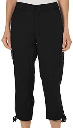 Caribbean Joe Women's High Density Poplin 5 Pocket Cargo Capri Pant