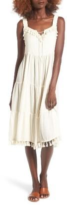 Women's Moon River Tassel Trim Midi Dress $100 thestylecure.com