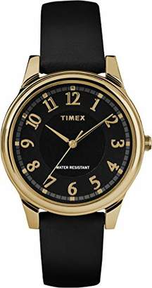 Timex Womens Analogue Classic Quartz Watch with Leather Strap TW2R87100