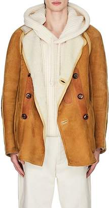 Maison Margiela Men's Shearling Double-Breasted Coat
