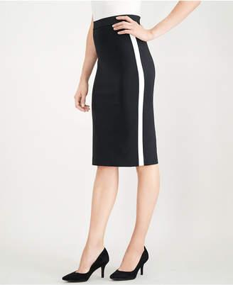 Alfani Side-Stripe Midi Pencil Skirt