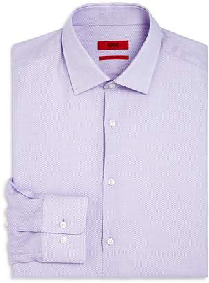 HUGO Textured Dot Regular Fit Dress Shirt