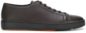 Santoni lace up neoprene trimmed trainers