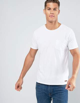 Brave Soul Basic Raw Edge T-Shirt