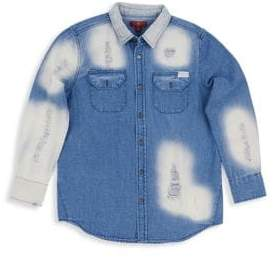 7 For All Mankind Little Girl's& Girl's Oversized Denim Shirt