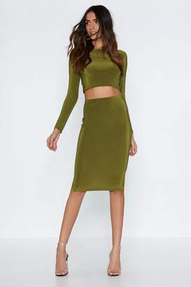 Nasty Gal Piece Together Crop Top and Skirt Set