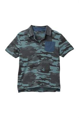 Tailor Vintage Camo Johnny Collar Chambray Pocket Tee (Toddler Boys)