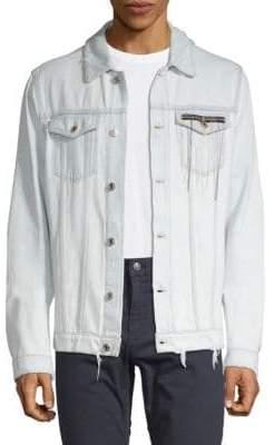 MSGM Distressed Cotton Denim Jacket