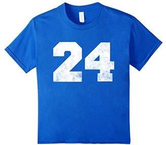 "Big Distressed Number ""24"" Twentyfour Numeric Digits T-shirt"