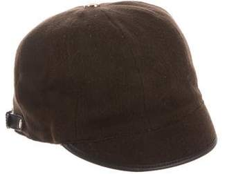 Gucci Leather-Trimmed Cashmere-Blend Hat
