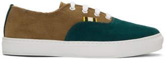 Aprix Tan and Green APR-005 Sneakers
