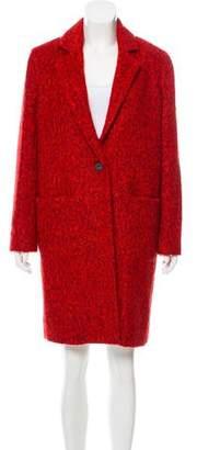Zac Posen Giselle Wool-Blend Long Coat w/ Tags